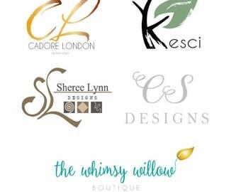 Custom Logo Design Illustration Logo  Boutique Logo  Branding - Unique Design Blog Logo  Branding Board  Customized Doodle Logo