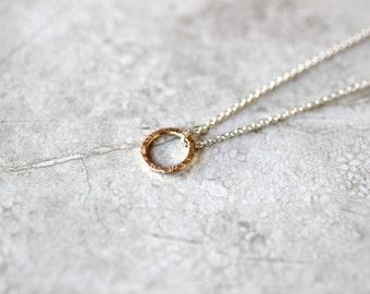 Simple Circle Necklace, Minimal Necklace