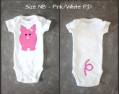 Pig baby bodysuit - Different colors/sizes to choose from