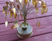 Golden Wire Tree with Foil Leaves and Wind-Up Base - Bohemian Romantic Country Home Decor
