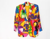 Picasso Jacket/ Picasso Shirt/ Club Kid/ 90s Club Kid/ Fresh Prince/ Rainbow Jacket/ Versace Jacket/ Trippy Clothing/ Psychedelic Jacket