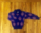 2T Blue and Pink Vintage Childrens Collared Sweater Toddler