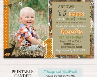 Deer Hunting Birthday Invitation - Hunting Birthday - Camo Birthday - Hunting Invitation - Deer Invitation - Printable Hunting Invitation