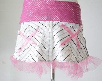 Pink Sequin Skirt
