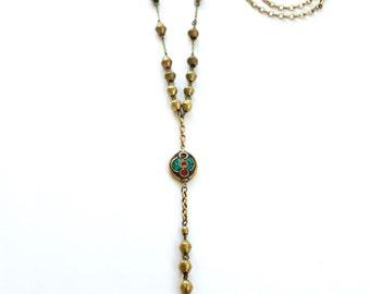 Nepali Inlaid Palm Rosary