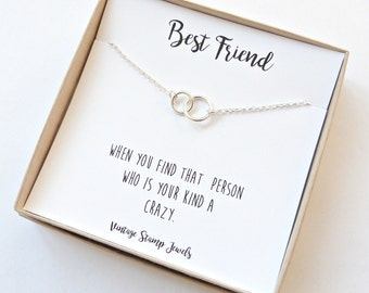 Eternity Necklace ,Gold Necklace, Gift Box, Silver circle Necklace, Minimalist,Best Friend Gift, Gift for her, Best Friend Necklace,
