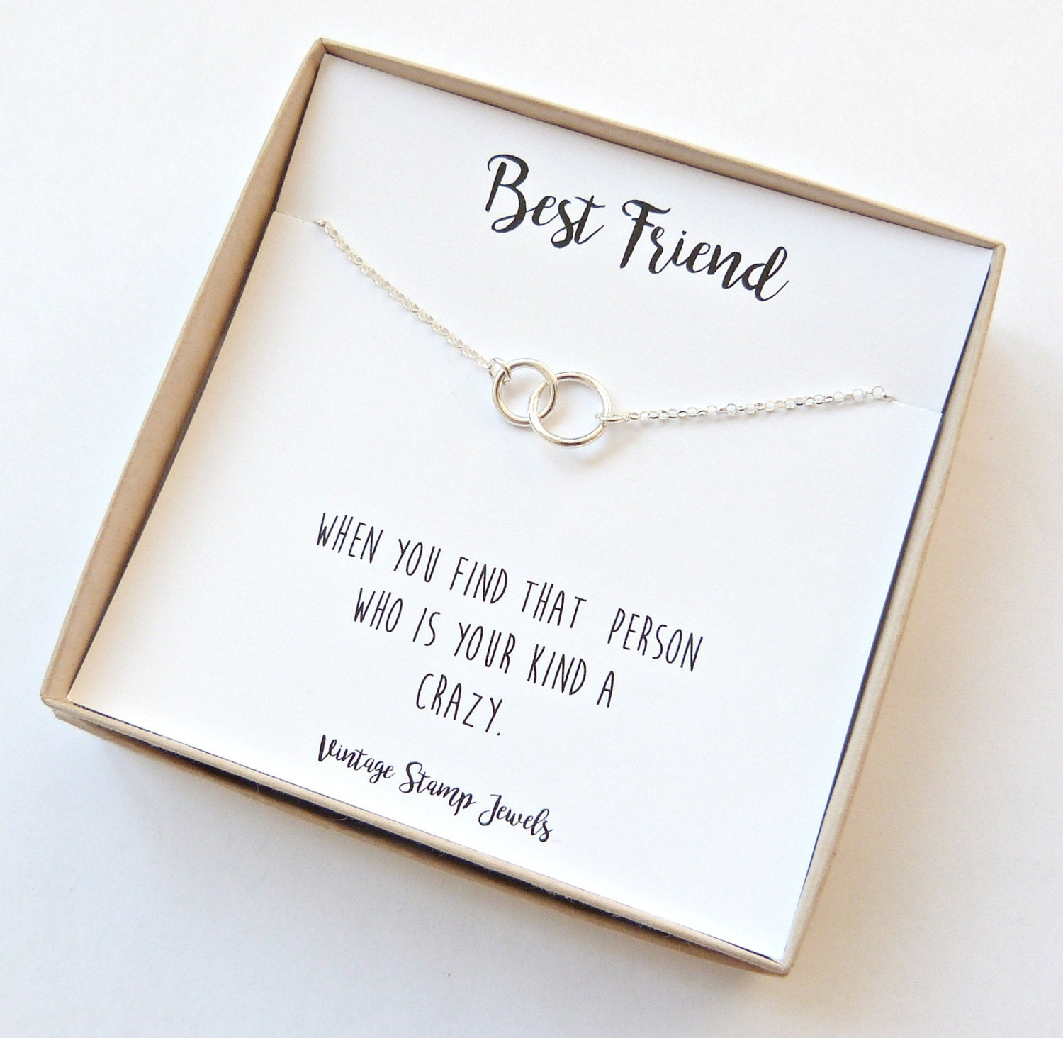 Eternity Necklace Gold Necklace Friend christmas Gift Box