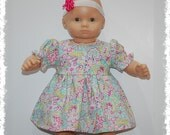 """Short Sleeve Dress w/Bloomers (Bitty Baby 15"""" Doll)"""
