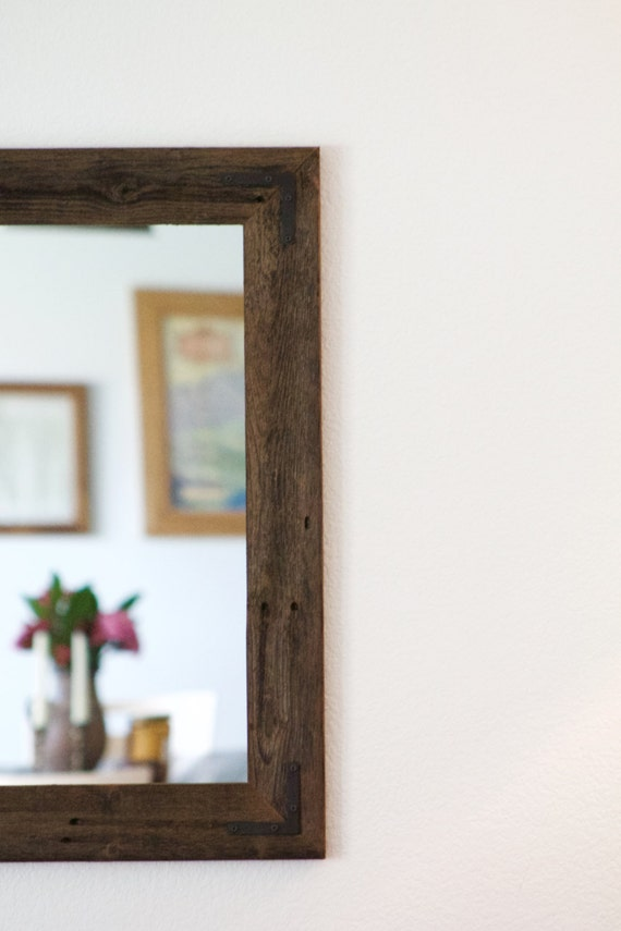 Large wood mirror rustic wall mirror large wall mirror like this item altavistaventures Images