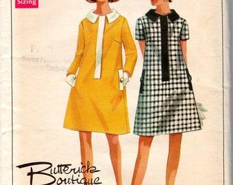 1960s Women's A-line Dress- Size 14 Bust 36 - Butterick 4708 uncut
