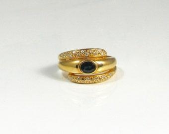Sapphire and Diamond Ring; Sapphire and Diamond Band Ring; Sapphire and Diamond By-Pass Ring; Alternative Wedding Band; Wedding Band