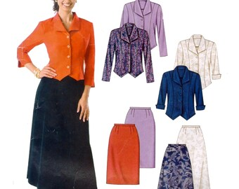 McCall's M4563 Misses / Miss Petite Unlined Jackets and Skirts Womens Sewing Patterns size 8 10 12 14 Complete