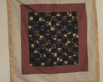 Stars and Moons Lap quilt or Wall Hanging