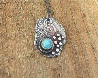 Amazonite silver necklace