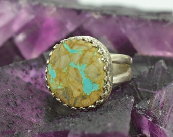 Boulder Turquoise and Sterling Ring