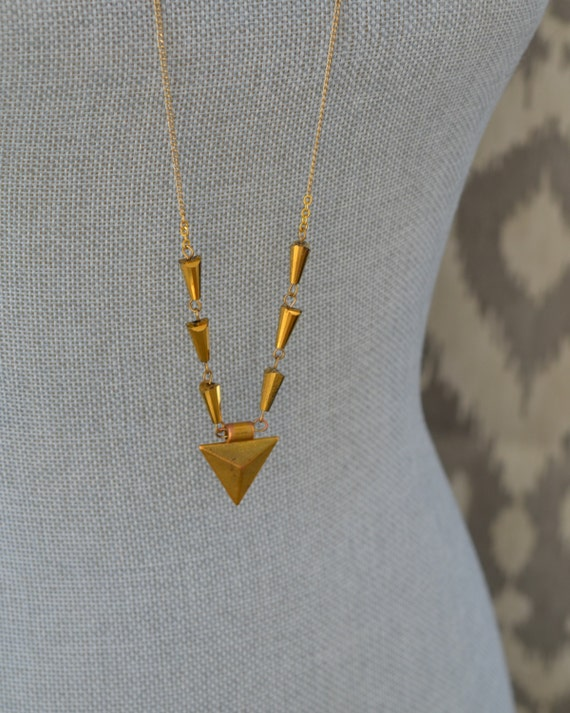Long Gold Arrow Necklace - Long Gold Spike Necklace - Long Delicate Gold Necklace - Long Crystal Necklace - Layer Necklace Boho Jewelry
