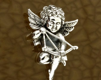 Sterling Silver Cupid Pendant God of Desire Free Shipping!