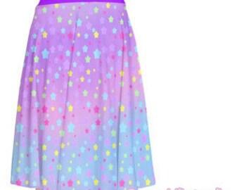 Pastel Galaxy Stars A-line Skirt