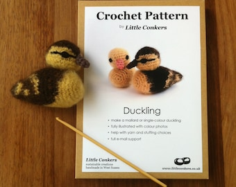 Crochet Duckling Pattern / Gift for Crocheter / Crochet Pattern Gift / Printed Paper Pattern / Craft Gift / Christmas Crochet Gift