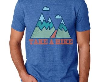 Take a Hike Men's T-shirt Graphic Tee Cool Tshirt