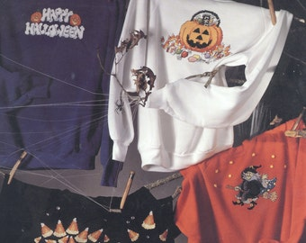 Ready-To-Scare Halloween cross stitch Leisure Arts leaflet 2410