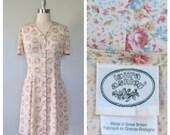 90s floral Laura Ashley dress size medium / rayon floral dress