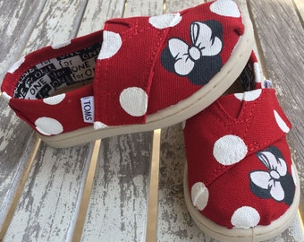 Red Minnie Mouse Polka Dot TINY TOMS