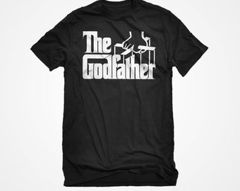 T-shirt The Godfather Unisex Adult Cotton Men's Grandparents God Parents Newborn Tshirt Gift for Him or Her #3065