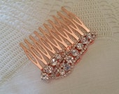 CUSTOM LISTING For PRISCILLA Crystal Rose Gold Bridal Hair Comb Hair Accessories Bridesmaids Bride Wedding Mother of the Bride