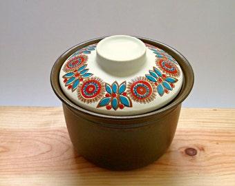 Vintage Norge Figgjo Flint Astrid Flameware lidded Casserole Pot