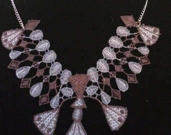 Statement necklace made from lace