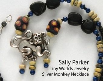 Silver Monkey Necklace