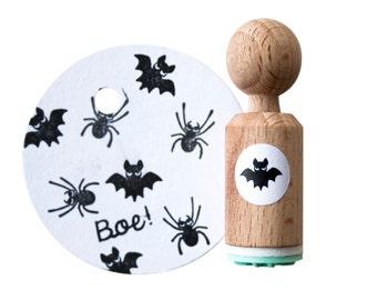 BAT mini Stamp - bat rubber stamp - bat ink stamp - halloween stamp - halloween bat stamp