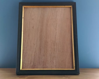 Edwardian Gesso Green Simulated Oak Picture / Photo Frame