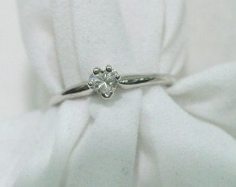 Heart Shaped Diamond Solitaire Engagement Ring Promise Ring Anniversary Gift Diamond Ring