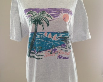 Vintage Hawaii Surf Salt Pond Kauai Tshirt