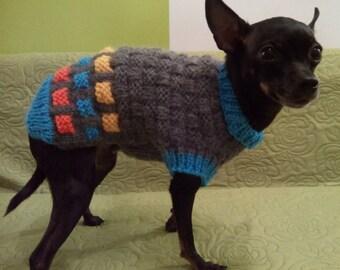 Small Dog Sweater-Chihuahua sweater-Pet Sweater-Dog Costume Size S