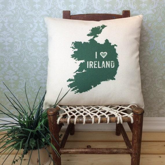 I love ireland pillow cover irish green couch cushion saint for Sofa cushion covers ireland