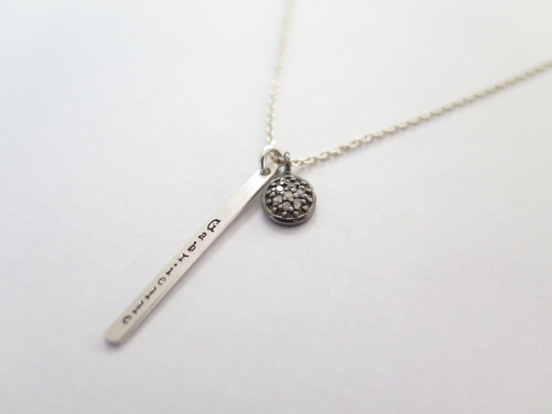 personalized name necklace pave diamond diamond necklace. Black Bedroom Furniture Sets. Home Design Ideas