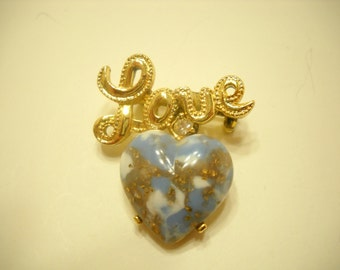 Vintage Gerry's Love Brooch (4232) Sparkly Heart