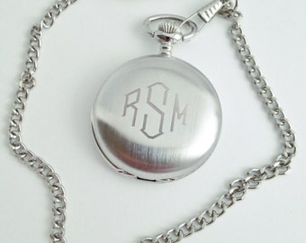 Groom Gift Idea, Mens Engraved Pocket Watch, Groomsmen Gift, First Fathers Day Gift