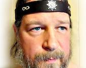 Sun God Leather Headband Infinity Pagan Headpiece