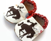 cowboy baby shoes mustang shoes rodeo baby shoes horse shoes for toddler boy brown and red shoes soft sole shoes cowboy slippers for toddler