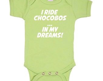 Final Fantasy Chocobo bodysuit onesie Geek Baby / 3M/6M