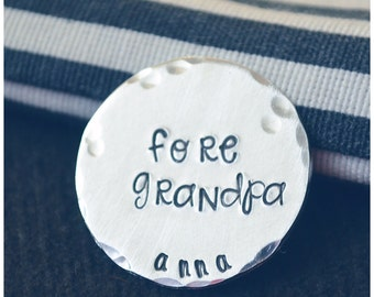 Golf Ball Marker - Golf Grandpa Gift - Custom Golf Markers - Personalized Golf Gifts - Golf Gifts for Men - Stocking Stuffers for Men