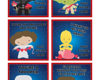 Star Wars Valentine's Day- Cards /Gift Tags - Printable DIY File
