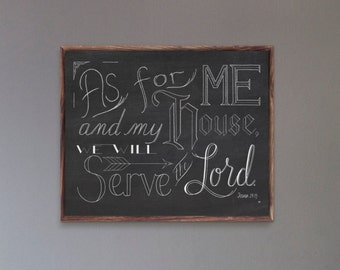 As For Me And My House Print, Joshua 24:15, As For Me Wall Art, Bible Verse Wall Art, Scripture Wall Decor