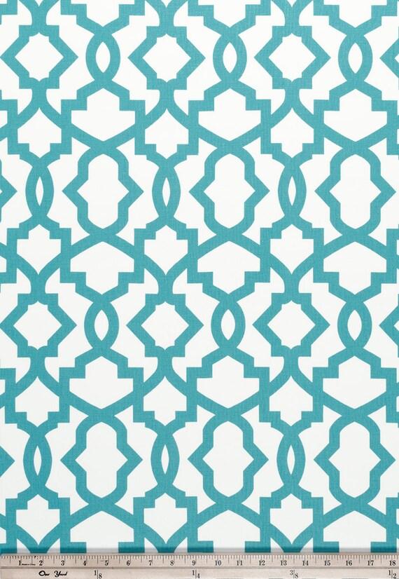 1 yard Coastal Blue Sheffield Home Decor Fabric Duck Cloth