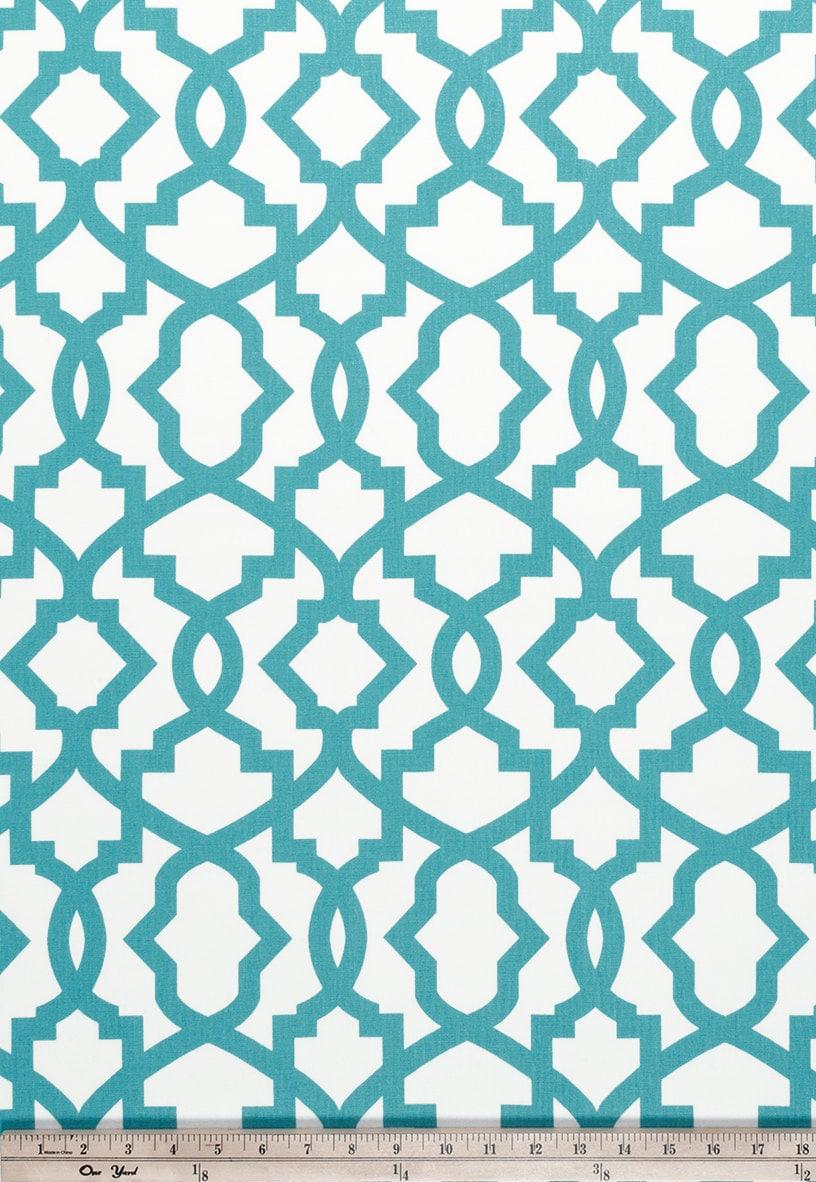 1 Yard Coastal Blue Sheffield Home Decor Fabric Duck