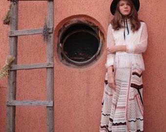 Hand Crochet Maxi Skirt,Maxi Cotton skirt,Long summer skirt,Boho maxi skirt,Boho wedding dress,Hippie skirt,Gypsy skirt,Bohemian clothing